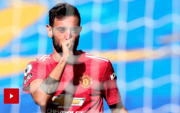Bruno Fernandes: Man United Beruntung Menang Lawan Brighton