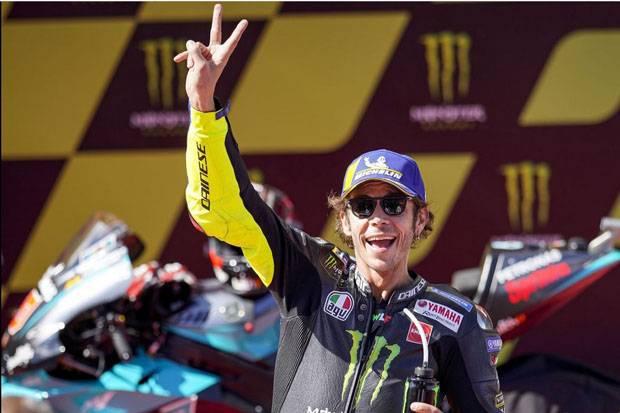 Rossi Jalani Balapan Ke-350 di MotoGP Catalunya dari Baris Pertama
