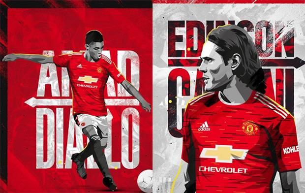 Resmi Manchester United Rekrut Edinson Cavani Dan Amad Traore