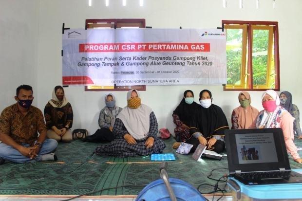 Pertagas Latih Kader Posyandu di Aceh Timur Cegah Stunting