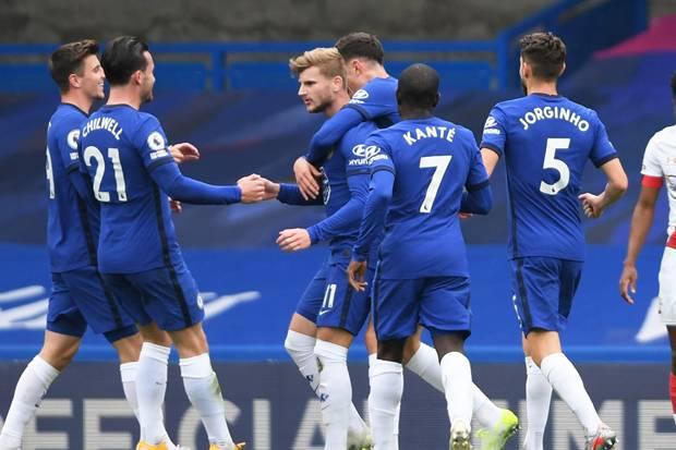 Babak 1, Timo Werner Ngamuk, Chelsea Ungguli Southampton