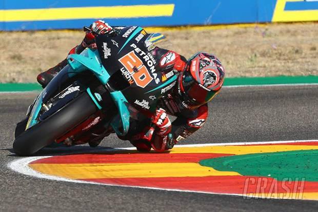 Sempat Kecelakaan, Quartararo Raih Pole Position di MotoGP Aragon