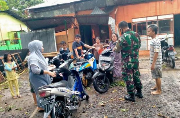 Puluhan Rumah Warga Gowa Rusak Diterjang Angin Kencang