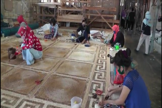 Karpet Serat Pohon Pisang Produksi Palembang Kini Mendunia