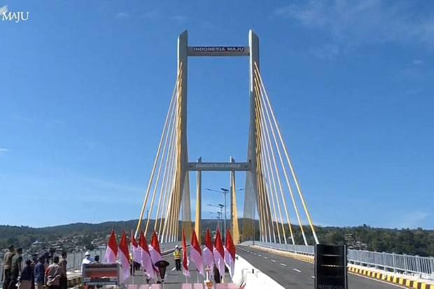Puji Arsitektur Jembatan Teluk Kendari, Jokowi: Bakal Jadi Ikon Baru