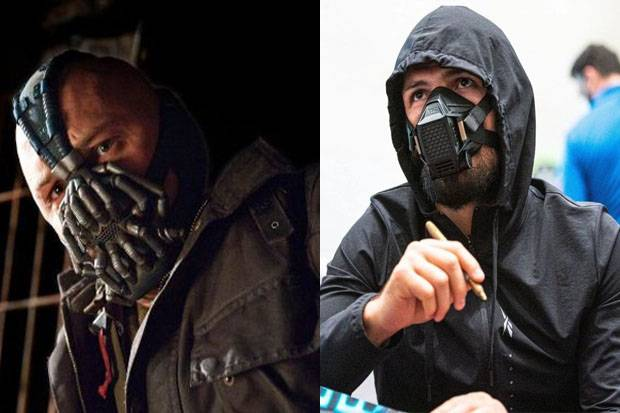 Seramnya Khabib Nurmagomedov Bermasker Mirip Bane Musuh Batman
