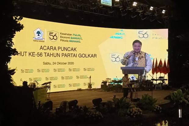 Pidato Politik Airlangga Hartarto Pada HUT ke-56 Partai Golkar