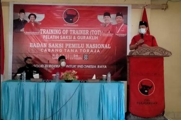 PDIP Tana Toraja Gelar TOT Pelatih Saksi dan Guraklih