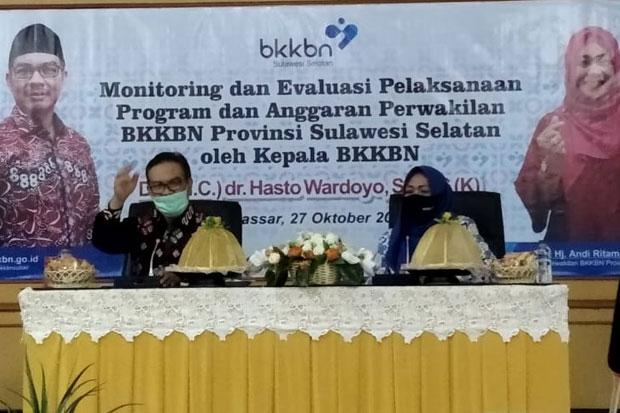 Hasto Wardoyo Dorong BKKBN Sulsel Maksimalkan Penggunaan Anggaran