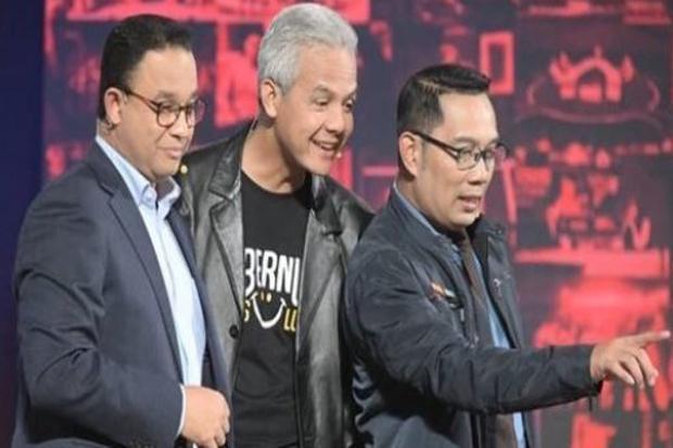 Ganjar Ungguli Prabowo dan Anies, Puan-Muhaimin Urutan Buncit