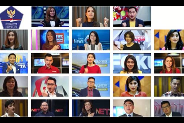 Ajak Lawan Covid, 23 Presenter TV Luncurkan Mars Iman Aman Imun