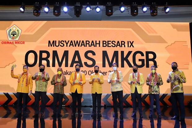 Di Mubes IX Ormas MKGR, Airlangga Yakin UU Cipta Kerja Bisa Pulihkan Ekonomi Nasional
