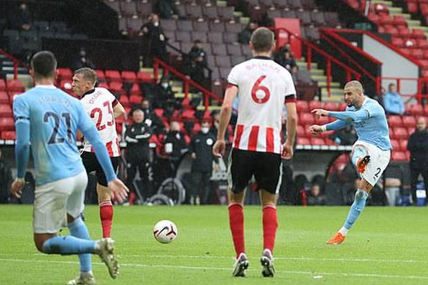 Gol Tunggal Walker Pastikan City Curi Poin di Markas Sheffield