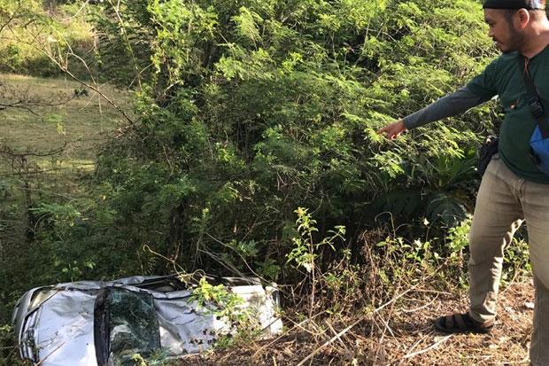 Kecelakaan di Maros, Mobil Masuk Jurang Sedalam Lima Meter