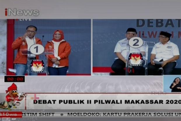 Sesi Pertama Debat Pilwalkot Makassar, Paslon Sudah Saling Kritik