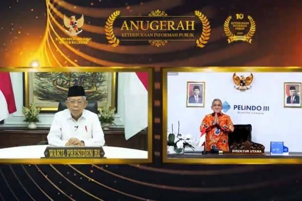 Pelindo III Raih Anugerah Tertinggi KIP, Implementasi Nilai Amanah