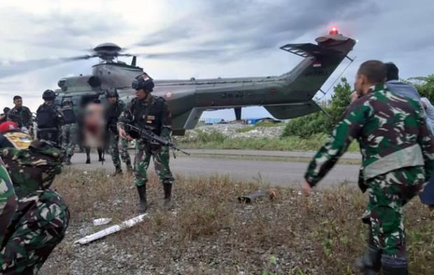 Prajurit TNI Diserang KKB saat Patroli, Tiga Orang Terluka