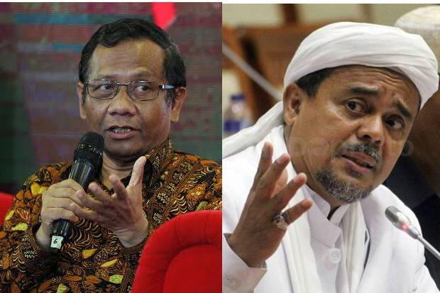 Dinilai Tak Kooperatif, Mahfud MD Sesalkan Sikap Habib Rizieq Shihab