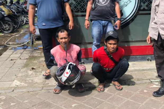 2 Pencuri Helm Ditangkap saat Hendak Menjual Hasil Curian