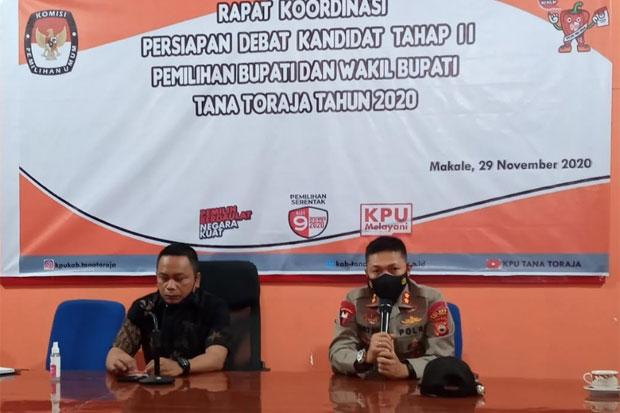 Kendaraan Taktis Disiagakan Jelang Debat Kedua Pilkada Tana Toraja