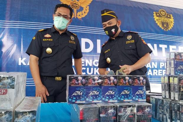 Bea Cukai Parepare Musnahkan 1,5 Juta Batang Rokok Ilegal