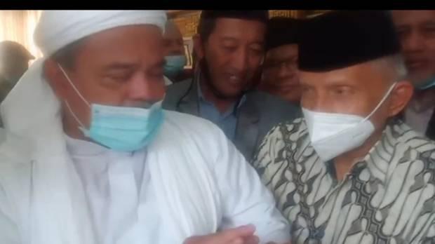 Amien Rais Ajak Habib Rizieq Bergandengan Tangan Melenyapkan Kezaliman dan Tegakkan Keadilan