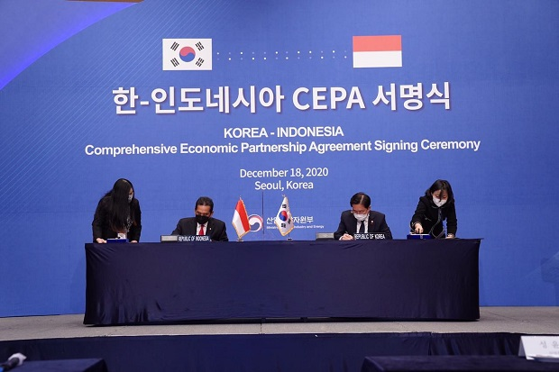 Se firmó oficialmente el acuerdo Indonesia-Corea CEPA