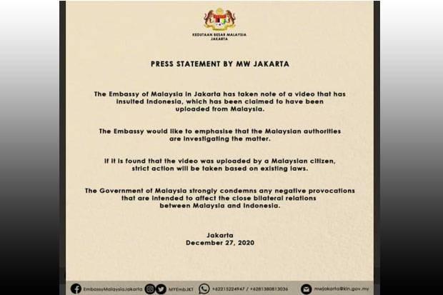 Pemerintah Malaysia Kecam Parodi Pelecehan Lagu Indonesia Raya dan Jokowi