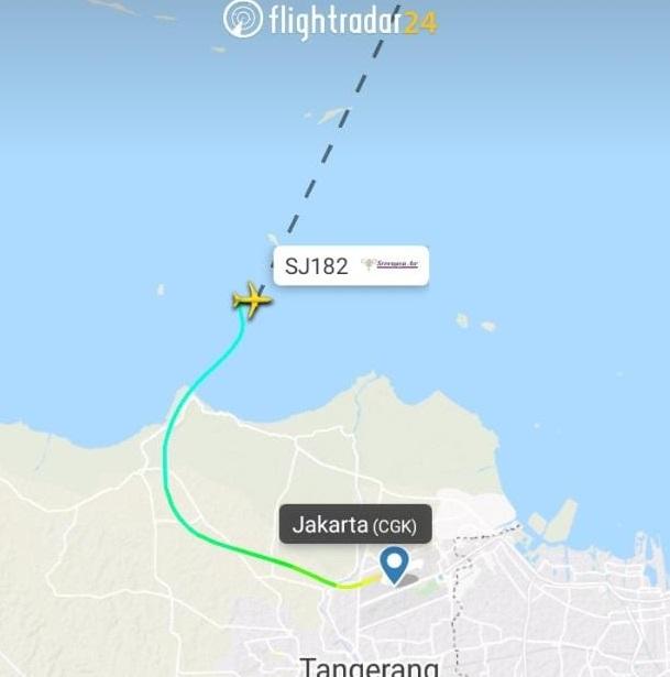 Pesawat Sriwijaya Air Tujuan Pontianak Jatuh di Pulau ...