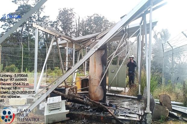 Tower Palapa Ring di Papua Dibakar, Konektivitas Kota Ilaga dan Sekitarnya Terputus
