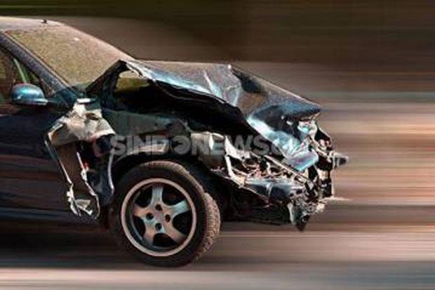 Tabrakan Hebat Libatkan 3 Minibus, 9 Penumpang Terluka