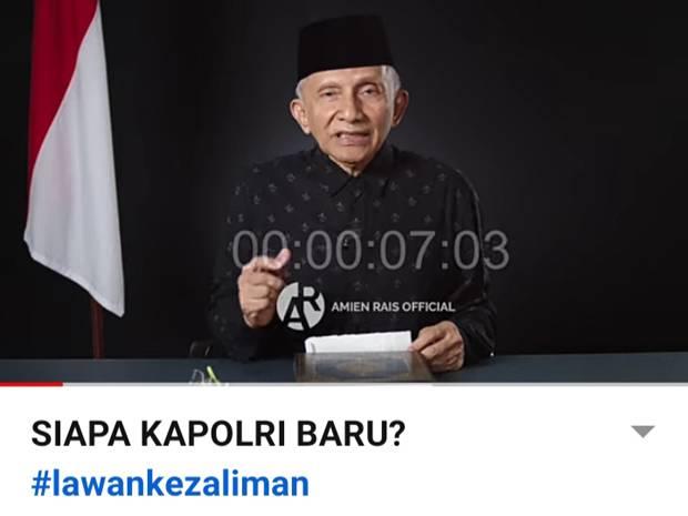 Jokowi Pilih Listyo Sigit Prabowo Calon Kapolri, Prediksi Amien Rais Tepat