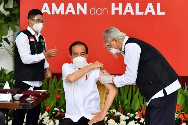 Dua Jam Setelah Disuntik Vaksin, Jokowi Merasa Sedikit Pegal