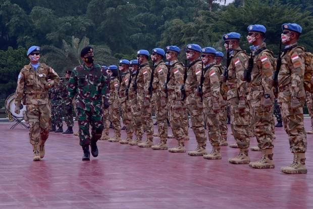 850 Prajurit TNI Ditugaskan sebagai Pasukan Perdamaian PBB di Afrika Tengah