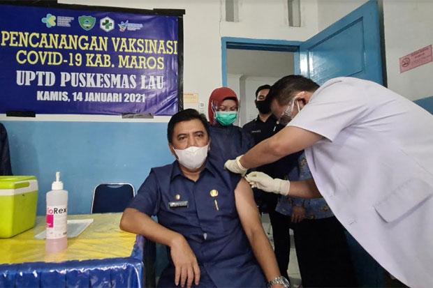Hatta Rahman Jadi Orang Pertama Disuntik Vaksin Covid-19 di Maros