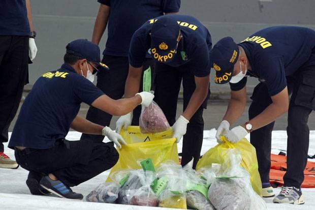 Tim DVI Sudah Menerima 162 Kantong Jenazah Korban Siriwijaya Air