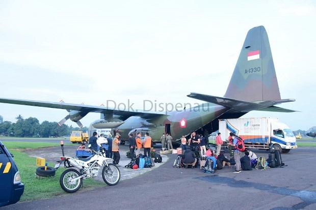 TNI AU Kerahkan 5 Pesawat Bawa Bantuan ke Banjarmasin dan Mamuju