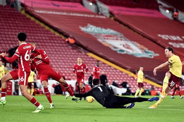 Babak I Liverpool vs Burnley: Buntu, The Reds Belum Mampu Bikin Gol