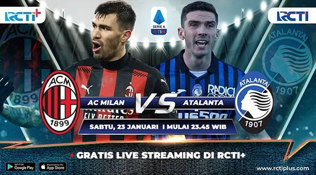 Live Streaming RCTI Plus: AC Milan vs Atalanta