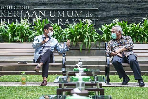 Bertemu Menteri PUPR, Sandiaga Bicara Sejumlah Hal Soal Destinasi Wisata