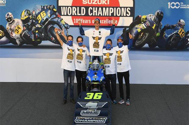 Joan Mir Capek Gelar Juara MotoGP Enggak Bernilai Tanpa Kehadiran Marquez