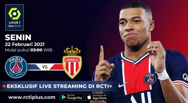 Laga PSG vs AS Monaco Tersaji d RCTI Plus; Pochettino Urus Dulu Rumor Mbappe