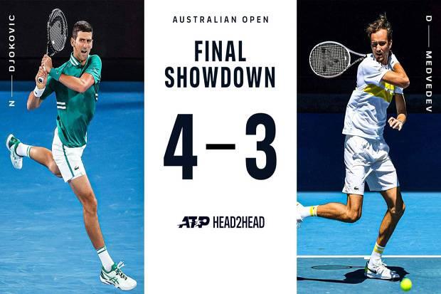 Novak Djokovic vs Daniil Medvedev: Mengadu Rekor di Rod Laver Arena