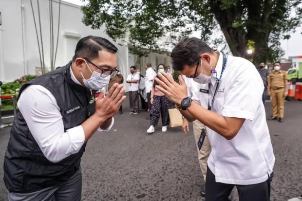 Sukseskan KEK Pariwisata Lido, Ridwan Kamil Terima Kasih ke Sandiaga Uno