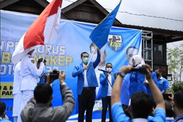 Kembali Nahkodai KNPI Pangkep, MYL Ajak Pengurus Abdikan Diri untuk Warga