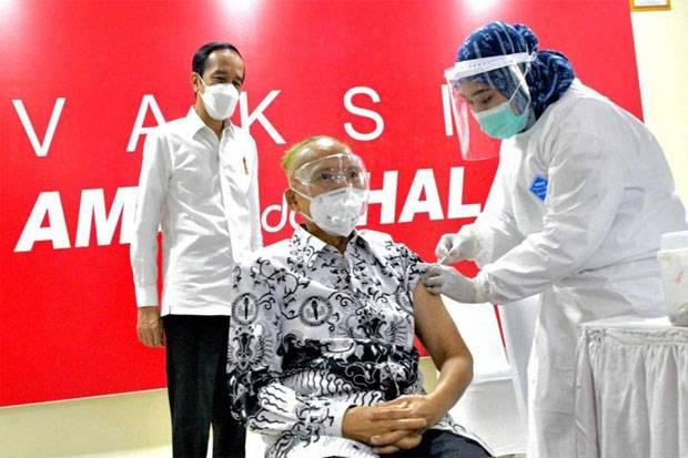 Jokowi Minta Dukungan NU Sukseskan Program Vaksinasi COVID-19