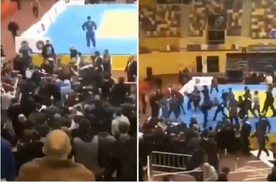 Dagestan Gempar! Pejudo dan Penonton Tawuran Massal di Arena Judo