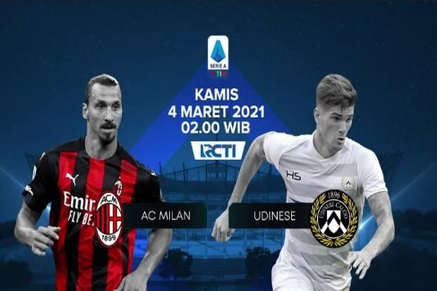 Live Streaming AC Milan vs Udinese: Bagian Penentu Musim Dimulai