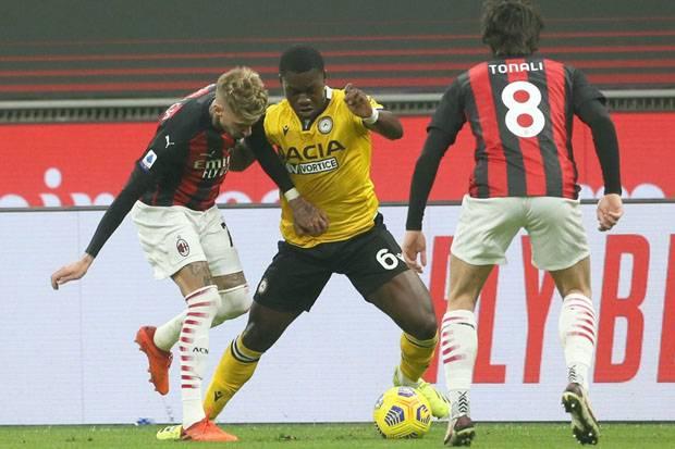 Nyaris Ditikam Udinese, Penalti Telat Kessie Selamatkan Milan