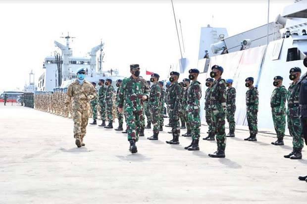 Panglima TNI Lepas Keberangkatan Satgas Maritim Perdamaian ke Lebanon